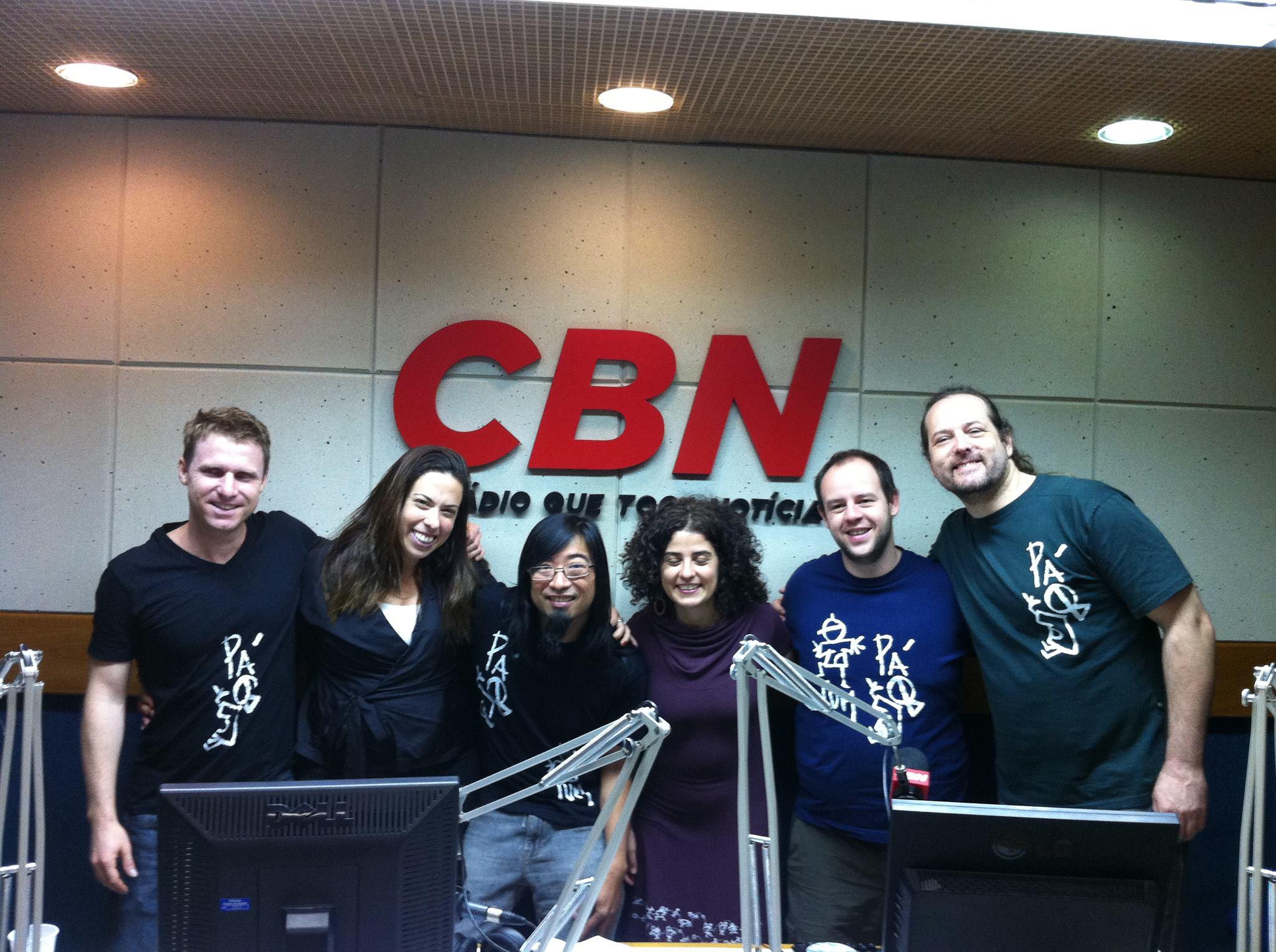 Barbatuques com Fabiola Cídral na Rádio CBN