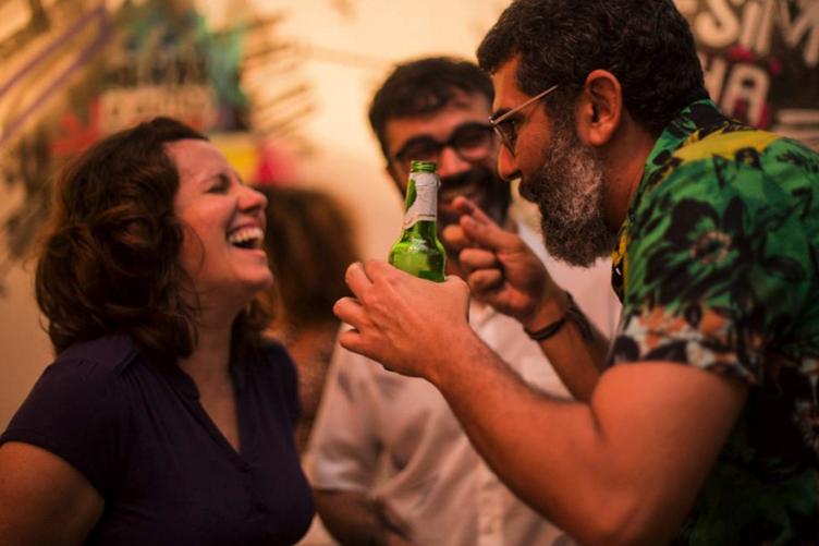 Lançamento videoclipe BNegão & Seletores de Frequencia na Serralheria/SP, julho de 2015.