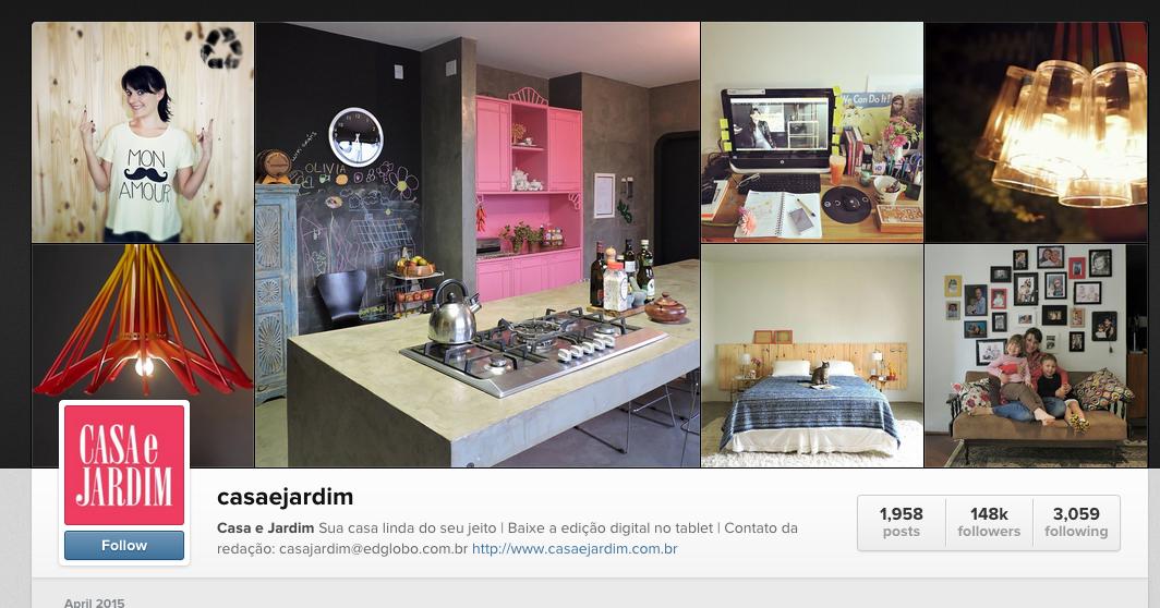 Erika Karpuk 'mandando muito bem' no #olhomagico da Revista Casa e Jardim | 04/2015