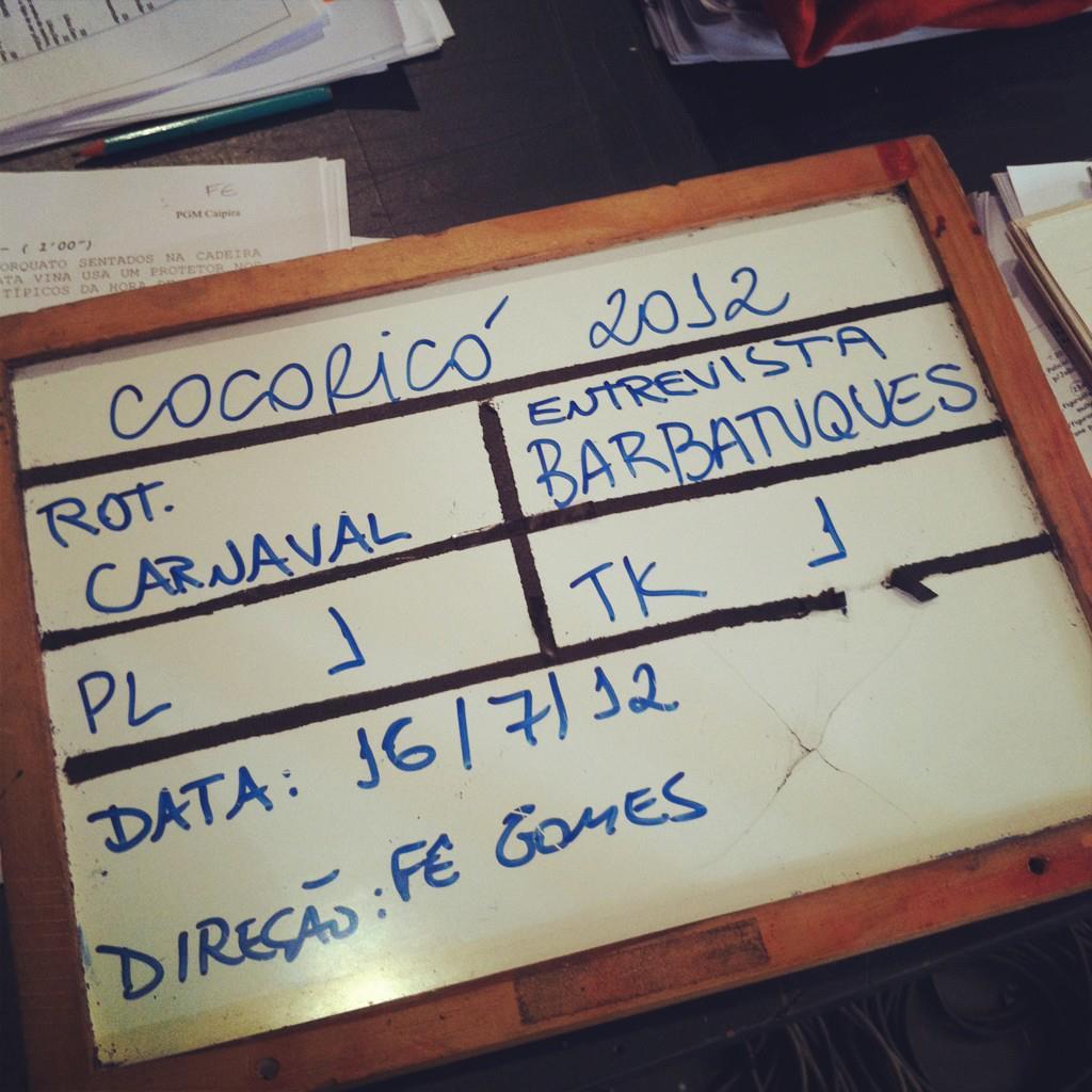 Gravação com Barbatuques no programa Cocoricó  na TV Cultura. Jul/2012