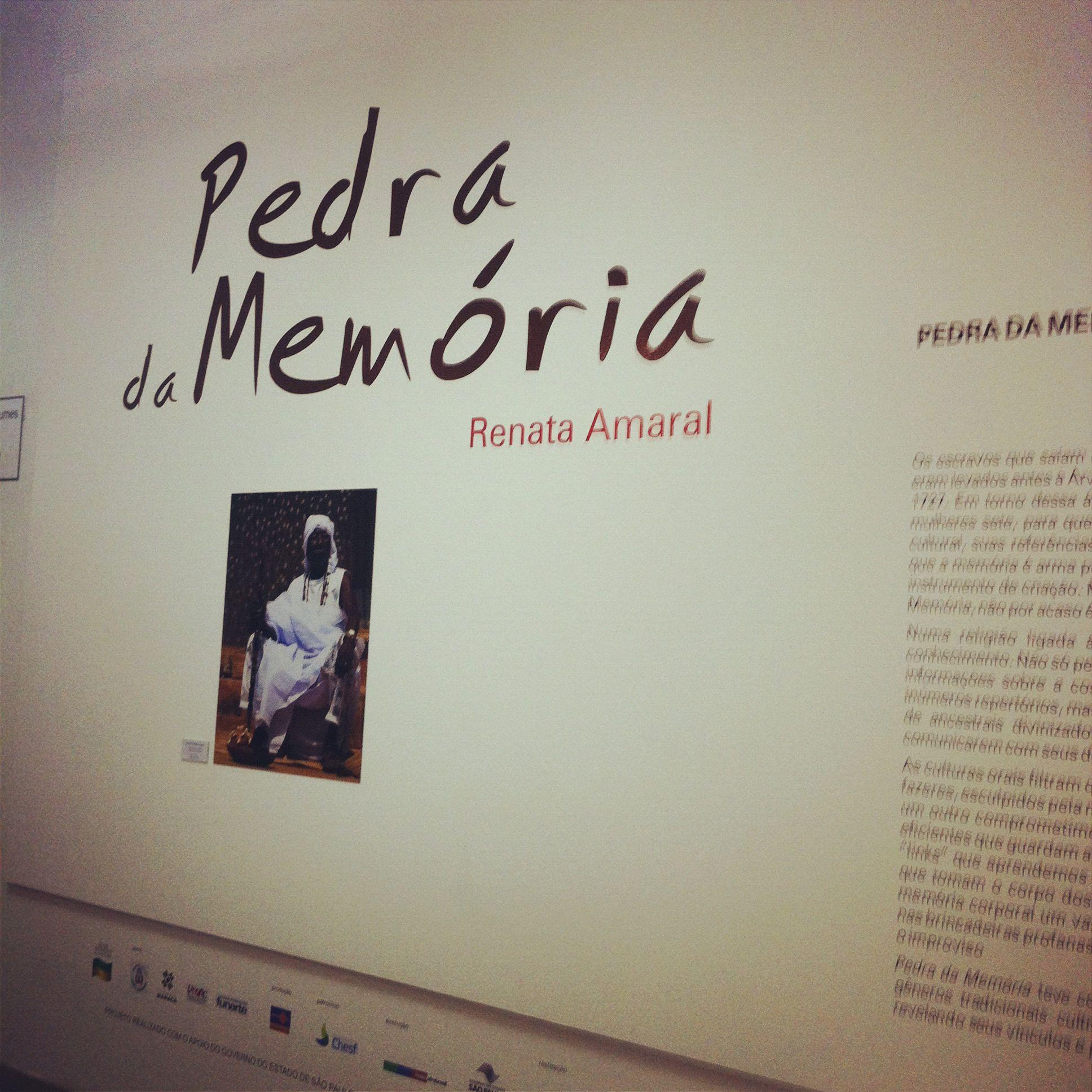 Mostra Pedra da Memória no Museu Afro. Nov/2012